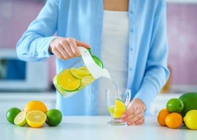 Recette eau detox aux 3 agrumes et romarin
